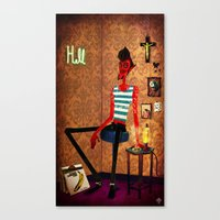 diablo Canvas Prints featuring Diablo by quentinschall
