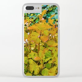 Colored Nature Print Clear iPhone Case