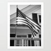 flag Art Prints featuring Flag by Block-by-Block
