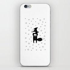 Little Fox And Snowfall iPhone & iPod Skin
