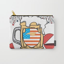 Beer BBQ And Blowin Stuff Up 4th Of July North Carolina Style Carry-All Pouch