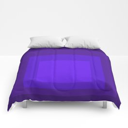 Block Colors - Neon Purple Comforters