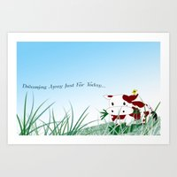 Dreaming away just for today Art Print