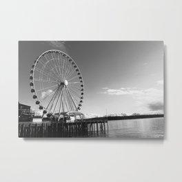 Seattle Great Wheel Metal Print