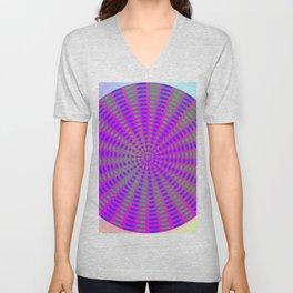 Round rose-pattern Unisex V-Neck