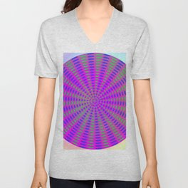 Round rose-pattern Unisex V-Neck