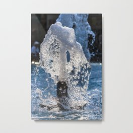 Water of a fountain Metal Print