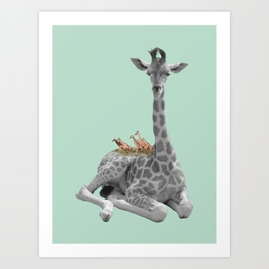 GIRAFFE (animals collection) Art Print