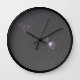 Orion Running Man flame and Horsehead Nebula's Wall Clock