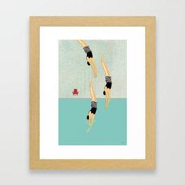 Pool Tricks Framed Art Print
