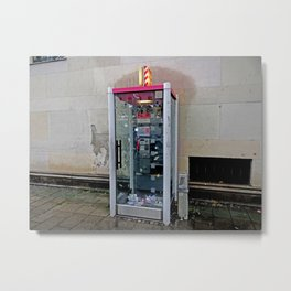 T-Mobil Telephone Booth (Deutsche Telekom) Metal Print