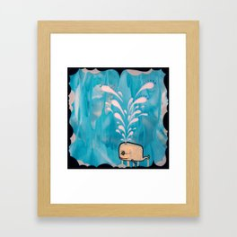 Swim With Me Framed Art Print