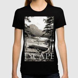 Escape - vintage lake photography  T-shirt