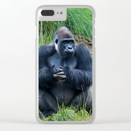 Gorilla Waiting For Lunch Clear iPhone Case