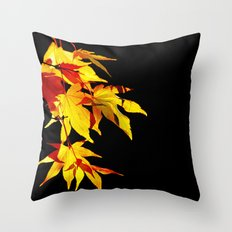 Golden Acer Throw Pillow