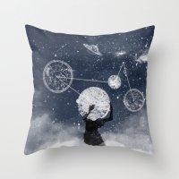 atlas Throw Pillows featuring Atlas by Slug Draws