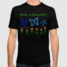 Math is Beautiful Black Mens Fitted Tee X-LARGE