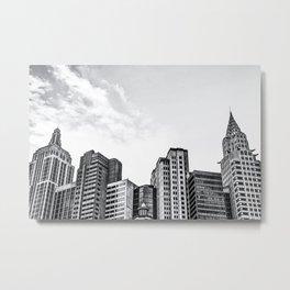 modern buildings at Las Vegas, USA in black and white Metal Print