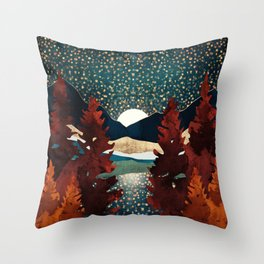 Star Sky Reflection Throw Pillow