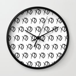 Xo,xo White pattern Wall Clock