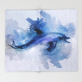 Dolphins Freedom Throw Blanket