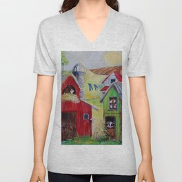 Whimsical Farm Unisex V-Neck