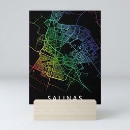 Salinas CA USA City Map Rainbow City Map Art Print Mini Art Print