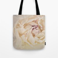 peony Tote Bags featuring Peony by Artemio Studio