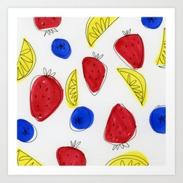 Mixed Fruit Art Print