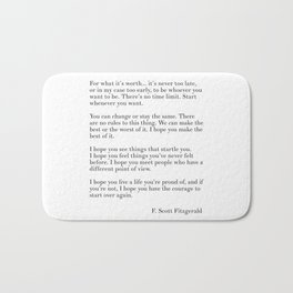 fitzgerald for what it's worth Bath Mat