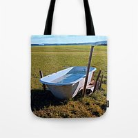 outdoor Tote Bags featuring Outdoor pool | conceptual photography by Patrick Jobst