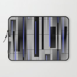 Off the Grid Blue - Abstract - Gray, Black, Blue Laptop Sleeve