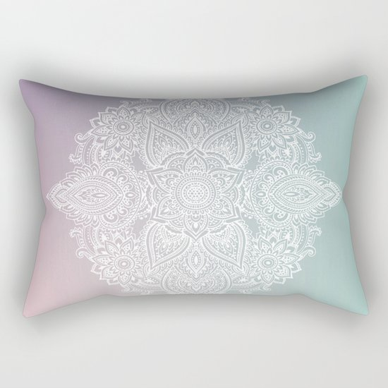 Mehndi Tattoo Ancient India Rectangular Pillow