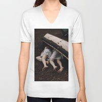 twins V-neck T-shirts featuring Twins by Brianne Daigle
