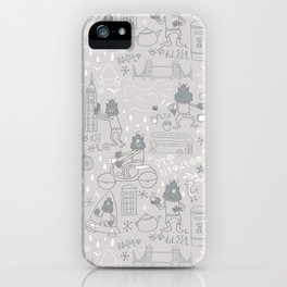 Alien visit to London iPhone Case