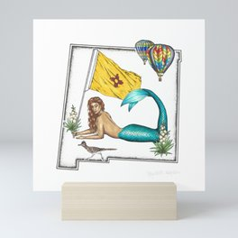 New Mexico Mermaid Mini Art Print