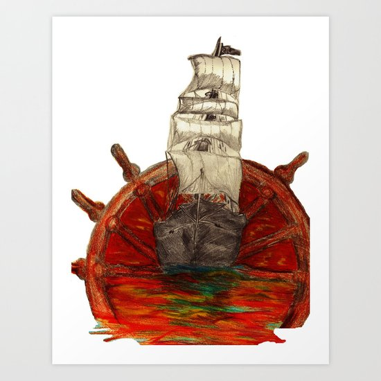 Steering into a new setting Art Print
