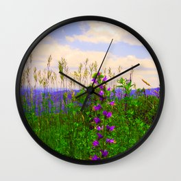 Delphinium Staphisagria Wall Clock