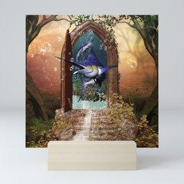 Awesome marlin Mini Art Print