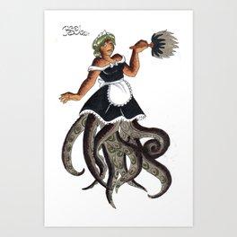 30 day monster challenge - Octomaid Art Print