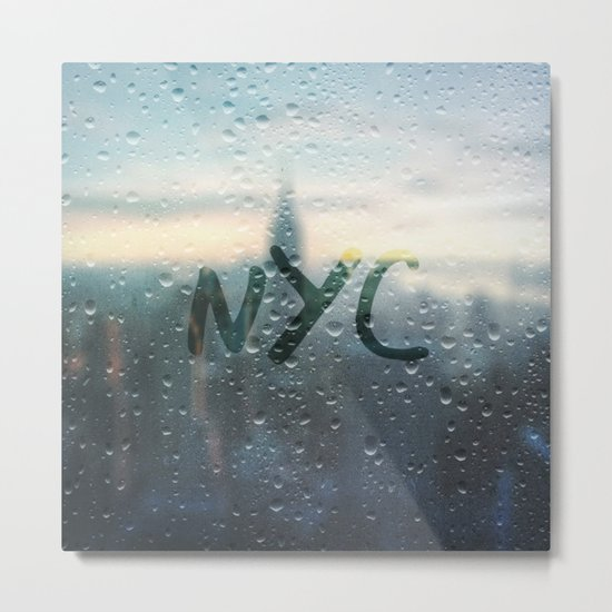 Rainy Day in NYC Metal Print
