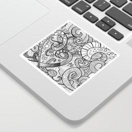 octupi heart Sticker