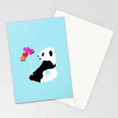 Panda with balloons Stationery Cards