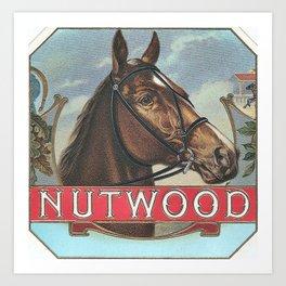 Nutwood Famous Vintage Racehorse Art Print