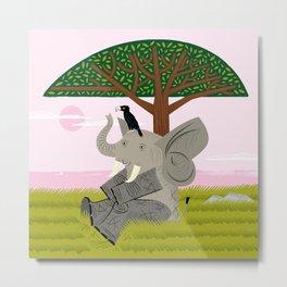 The Elephant and The Eagle Metal Print