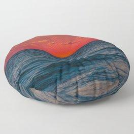 Canaveral Sunrise Floor Pillow