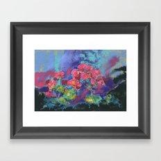 Geraniums, Geranium painting, pink geraniums, flower painting Framed Art Print