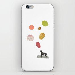 the thinking dog iPhone Skin