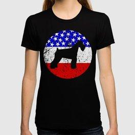 American Flag Schnauzer T-shirt