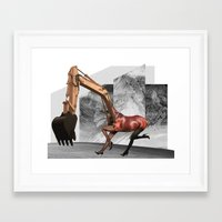 mustang Framed Art Prints featuring Mustang by Lerson